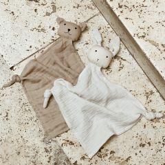Lot de 2 doudous lange yoko sandy stone beige Liewood