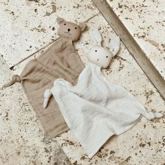 Yoko mini cuddle cloth 2 pack sandy stone beige Liewood