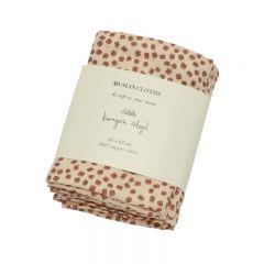 Organic muslin cloths 3-Pack buttercup rosa Konges Slojd