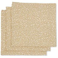 Organic muslin cloths 3-Pack buttercup yellow Konges Slojd