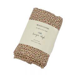 Organic muslin cloths 3-Pack rosaraie red Konges Slojd