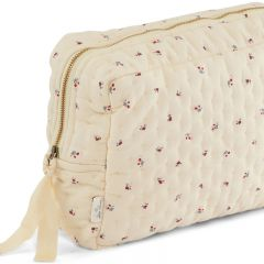 Quilted toiletry bag bloom red blue Konges Slojd