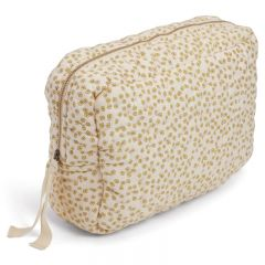 Quilted toiletry bag buttercup yellow Konges Slojd