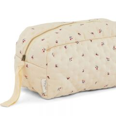 Small quilted toiletry bag bloom red blue Konges Slojd