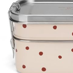 Lunchbox raspberry red dot Konges Slojd