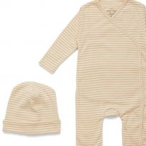 Ensemble nouveau né toasted peach stripe Konges Slojd