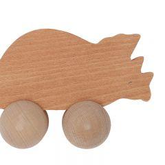 Jouet en bois roulant tricératops Konges Slojd