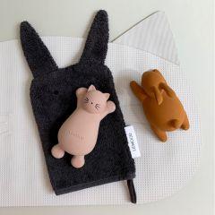 Lot de 2 jouets pour le bain vikky cat rose Konges Slojd