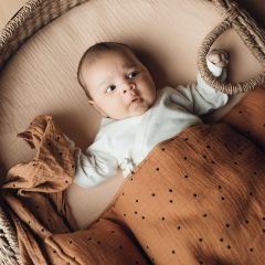 Baby blanket dots nut Bonjour Little