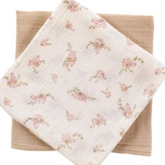 Little swaddle x2 nude / pansies Bonjour Little