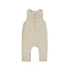 Grid button jumpsuit butter Rylee and Cru