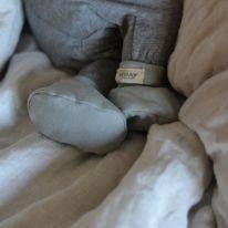 Chaussons en coton vert de gris Marmar Copenhagen