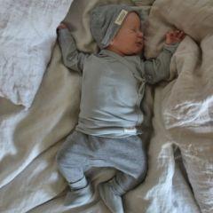 Grey melange cotton baby hat Aiko Marmar Copenhagen
