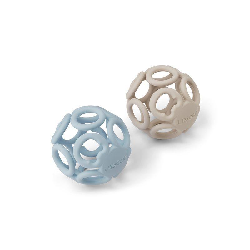 Balles de dentition jasmin sandy sea blue Liewood