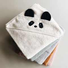 Albert hooded junior towel panda creme Liewood
