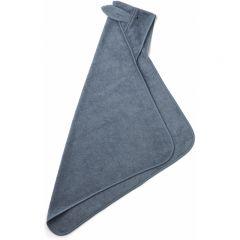 Albert hooded junior towel rabbit blue wave Liewood