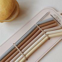 6 pack straws sunny shades Konges Slojd