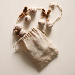 Knitted cherry garland Gentil Coquelicot