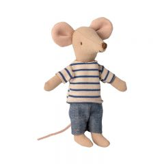 Big brother mouse in matchbox Maileg