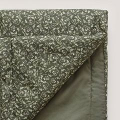 Couverture plaid floral moss Garbo and Friends