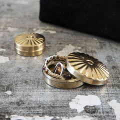 Set of 2 storages mini brass Meraki