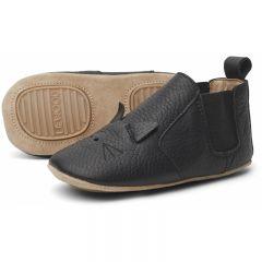 Chaussures en cuir Edith cat black Liewood