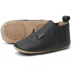 Edith leather slippers cat black Liewood