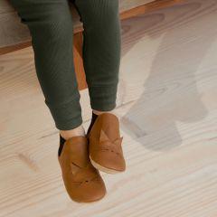 Chaussures en cuir Edith cat golden caramel Liewood