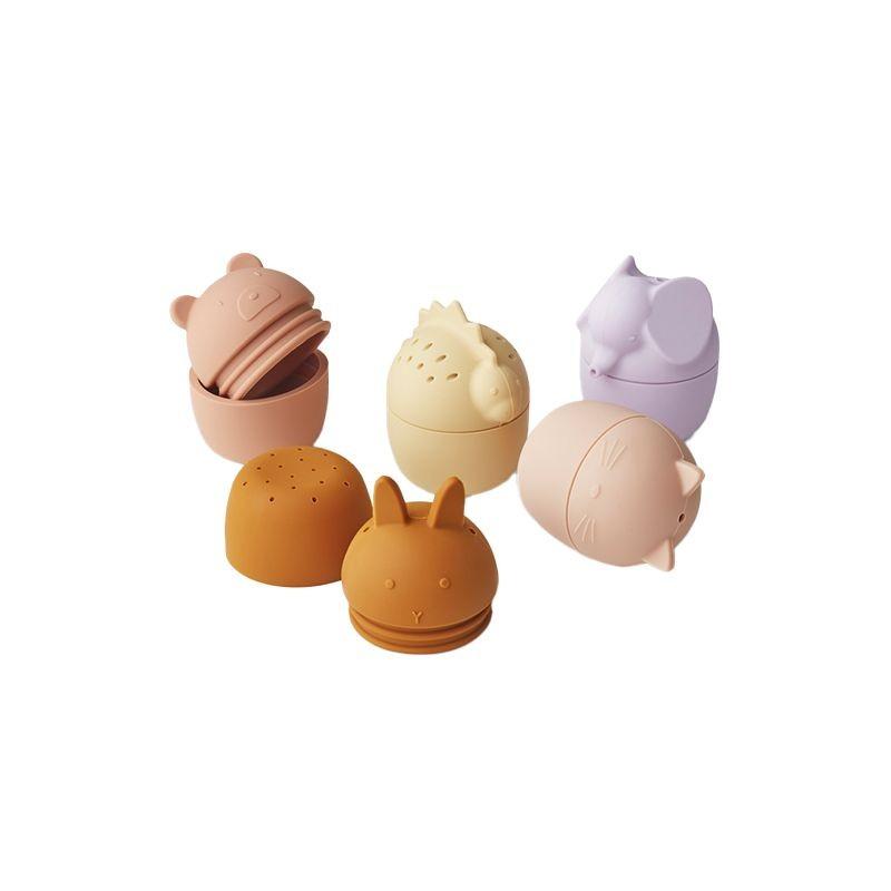 Gaby bath toys 5-pack rose