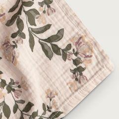Honeysuckle muslin swaddle blanket  Garbo and Friends
