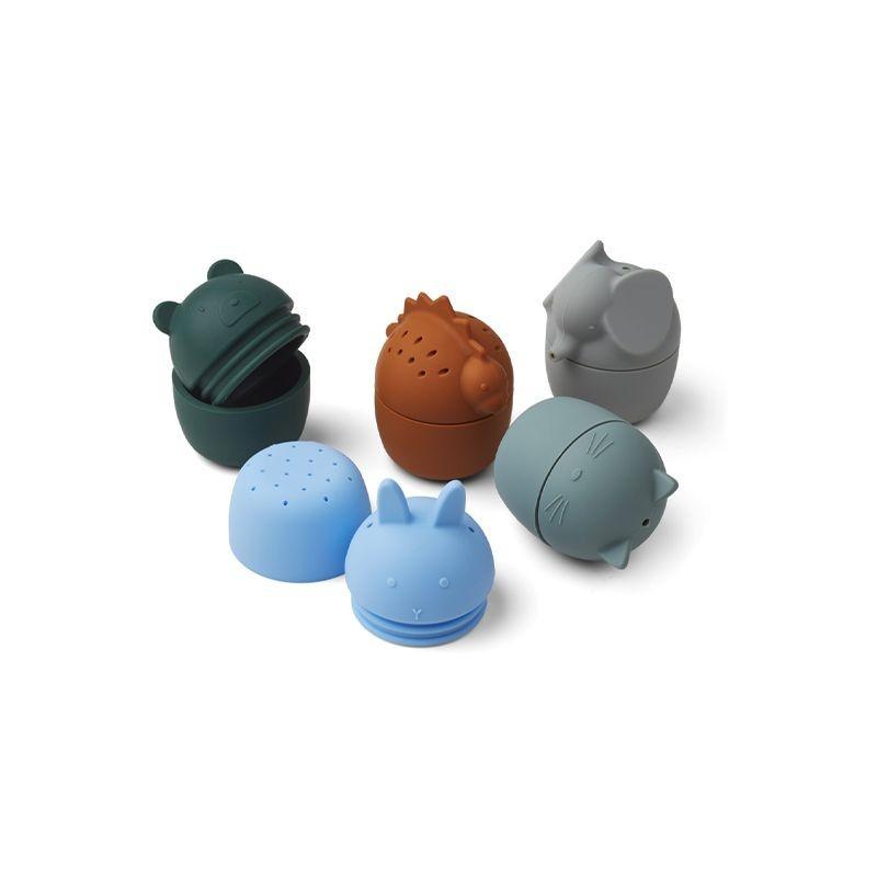 Gaby bath toys 5-pack blue Liewood
