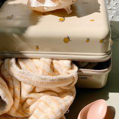 Travel suitcase lemon Konges Slojd