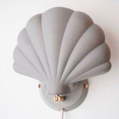 Lampe en métal shell grey leaves Konges Slojd