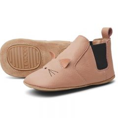 Edith leather slippers cat rose Liewood