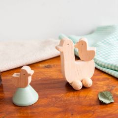Wooden rolling toy cot-cot KMR Childwood