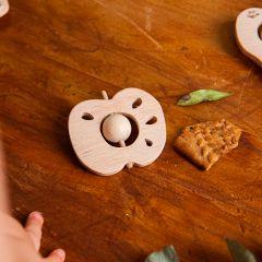 Wooden rattle tuttifrutti apple Childwood