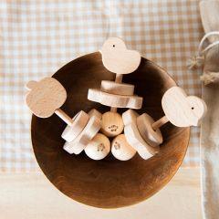 Wooden rattle klap klap bird KMR Childwood