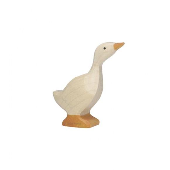 Figurine en bois oie