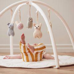 Tapis d'éveil avec arches en coton off-white Kid's Concept