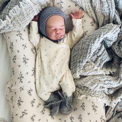 Newborn onesie petit bisou blue Konges Slojd