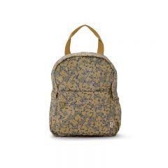 Rain kids backpack mini deux winter leaves mustard Konges Slojd