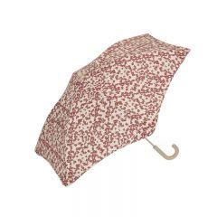 Kids umbrella winter leaves dark red Konges Slojd