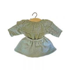 Vêtements de poupée ensemble colette thé vert Minikane