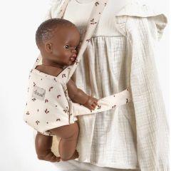 Vegetal velvet baby carrier for dolls Minikane