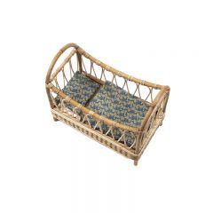 Rattan jambi bed with cassandra trim Minikane