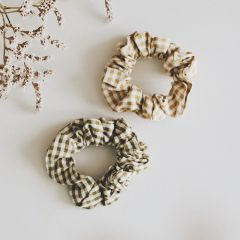Set of 2 vichy scrunchies Gentil Coquelicot