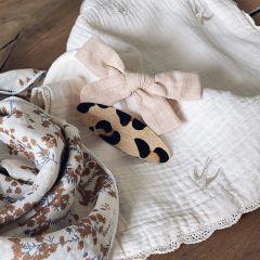 Duo barrettes sable et léopard Gentil Coquelicot