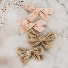 Duo bows sand and sage Gentil Coquelicot