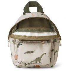 Saxo mini backpack dino dark sandy mix Liewood