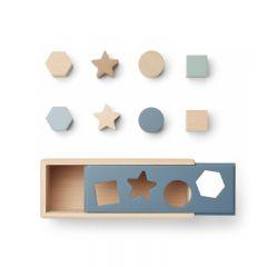 Midas puzzle box geometric whale blue mix Liewood